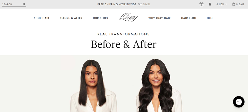Luxy Hair before and after