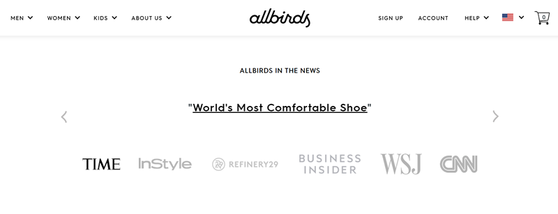 Allbirds in the media